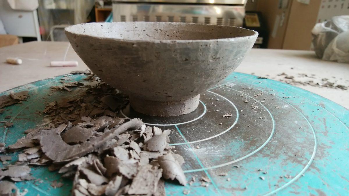 お茶碗、削り
