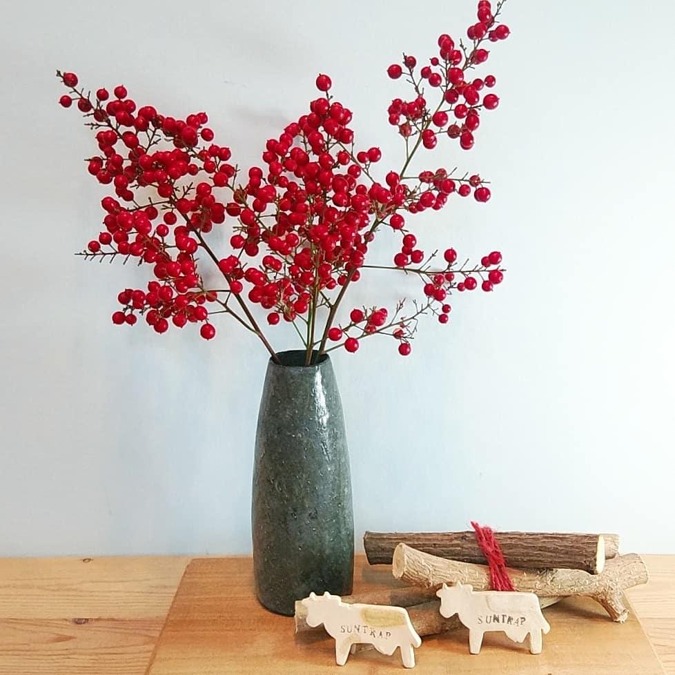ぶどう釉花瓶
