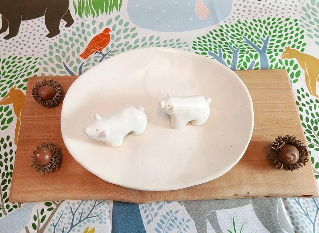白マット楕円皿