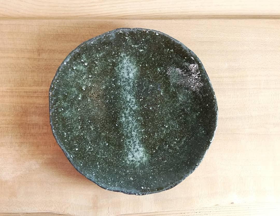 ぶどう釉小皿